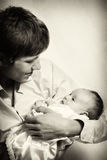 Loving father and his baby Royalty Free Stock Image