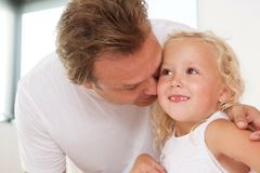 Loving father with his cute little daughter at home Royalty Free Stock Photo