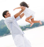 Loving father holding his daughter Royalty Free Stock Photos
