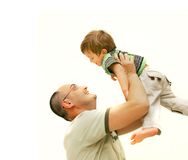 Loving father and son Royalty Free Stock Images
