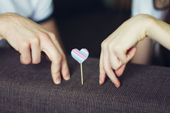 Loving fingers Royalty Free Stock Images