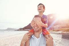 Loving fun father Stock Image