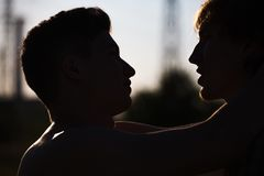 Loving gay couple Royalty Free Stock Images