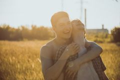 Loving gay couple stock images