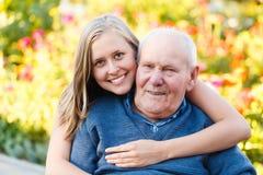 Loving granddaugher Stock Images