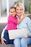 Loving granddaughter grandmother Royalty Free Stock Photography
