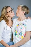Loving grandmother and granddaughter Stock Images