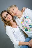 Loving grandmother and granddaughter Royalty Free Stock Photos