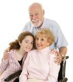 Loving Grandparents Stock Photography