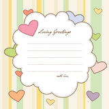 Loving Greetings. Colorful romantic greetings with spaces for your letter and signage Royalty Free Stock Photos