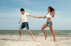 Loving guy and a girl Royalty Free Stock Image
