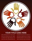 Loving hands design. Stock Images