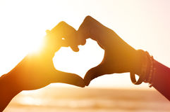 Loving hands Stock Images