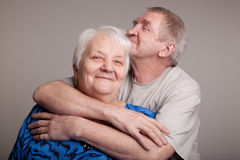 A loving, handsome senior couple Stock Photography