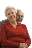 Loving, handsome senior couple Stock Image