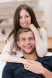 Loving handsome young couple Stock Photos