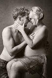 Loving happy couple, pregnant woman with her husband Royalty Free Stock Image