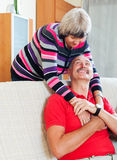 Loving happy mature couple together Stock Photography