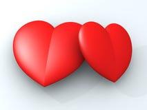 Loving heart. Two Loving heart vector illustration