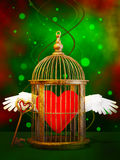 Loving heart  in cage Royalty Free Stock Image