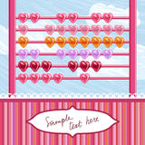 Loving hearts abacus. Vector illustration Royalty Free Stock Photos
