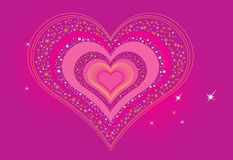 Loving hearts pattern Stock Images