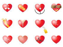 Loving hearts set Stock Images