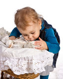 Loving her doll Stock Image