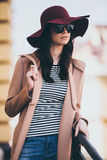 Loving her style. royalty free stock photography