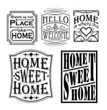 Loving home signs Royalty Free Stock Images