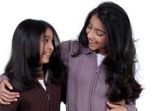 Loving indian girls Stock Photography