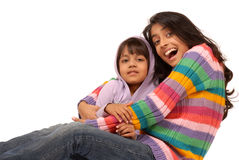 Loving indian sisters Royalty Free Stock Photos