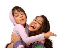 Loving indian sisters Royalty Free Stock Photography