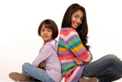 Loving indian sisters Stock Photos