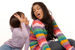 Loving indian sisters. Two naughty indian girls having fun Royalty Free Stock Image
