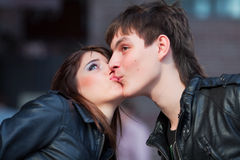 Loving kiss. Stock Image