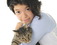 Loving on the Kitty Stock Images