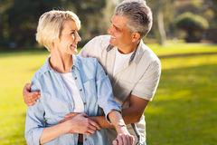 Loving mature couple Royalty Free Stock Images