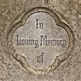 In Loving Memory Stock Photo