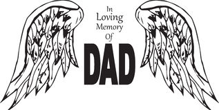 In loving memory of dad. In loving memory of deceased dad Stock Photo