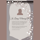 In Loving Memory Of vector lettering in abstract style, place for text and photo Stock Image