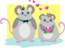 Loving Mice Couple Stock Image