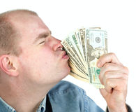 Loving Money royalty free stock image