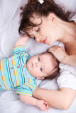 Loving mother  and baby Stock Photo