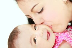 Loving mother and baby daughter Stock Photos
