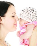 Loving mother and baby girl stock images