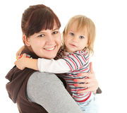 Loving mother with baby in her arms Stock Images