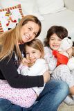 Loving Mother With Children During Christmas Royalty Free Stock Photography