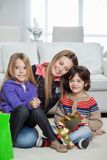 Loving Mother With Children At Home Stock Photography