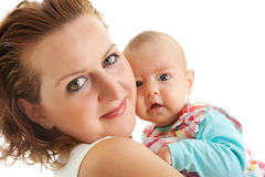 Loving mother with cute little daughter Stock Photo